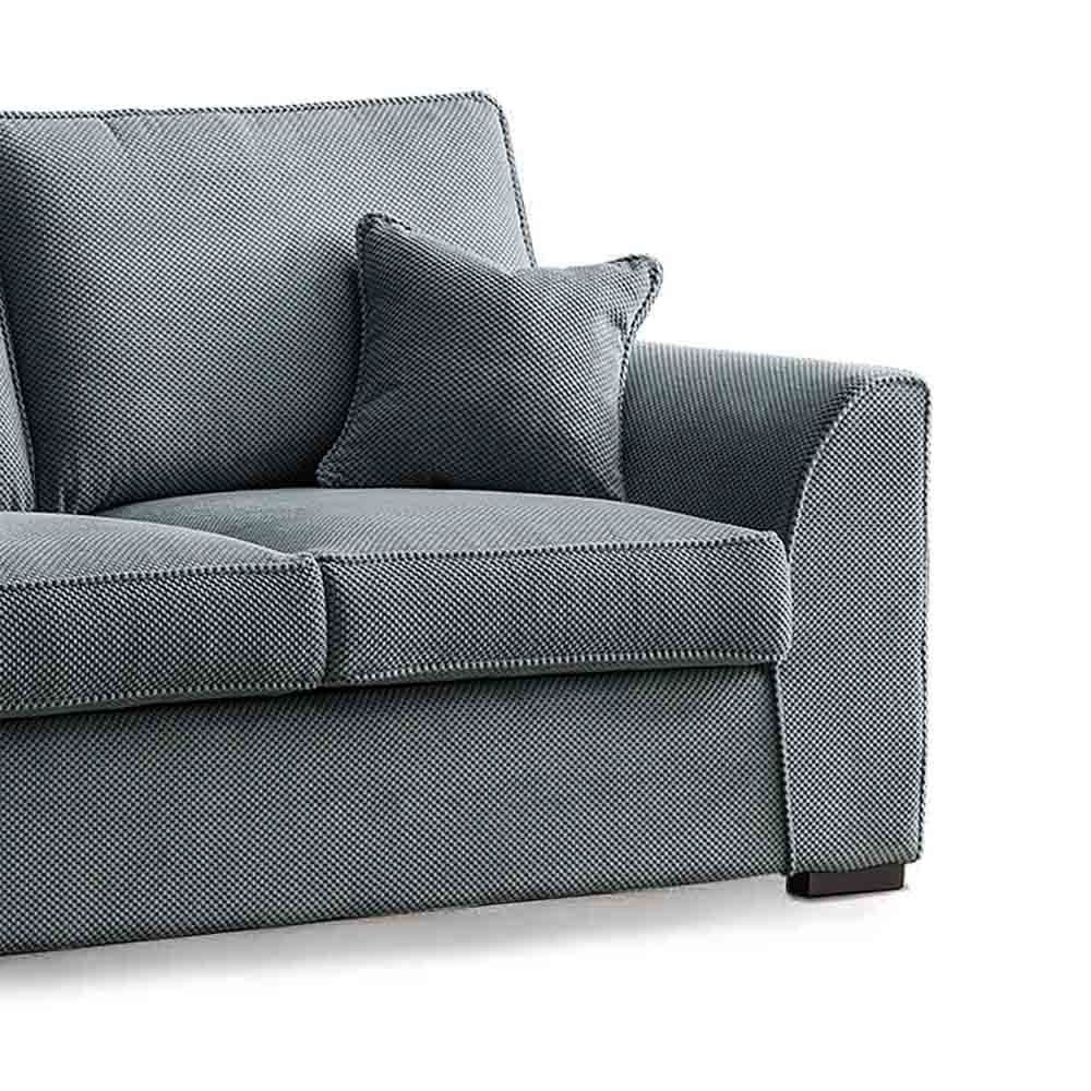 Dallas Charcoal 2 Seater Sofa - Close up of arm of sofa