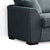 Dallas Charcoal 2 Seater Sofa - Close up of side of sofa