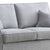 Dallas Silver 2 Seater Sofa - Close up of cushions