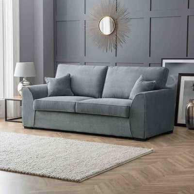 Dallas Charcoal 3 Seater Sofa - Lifestyle