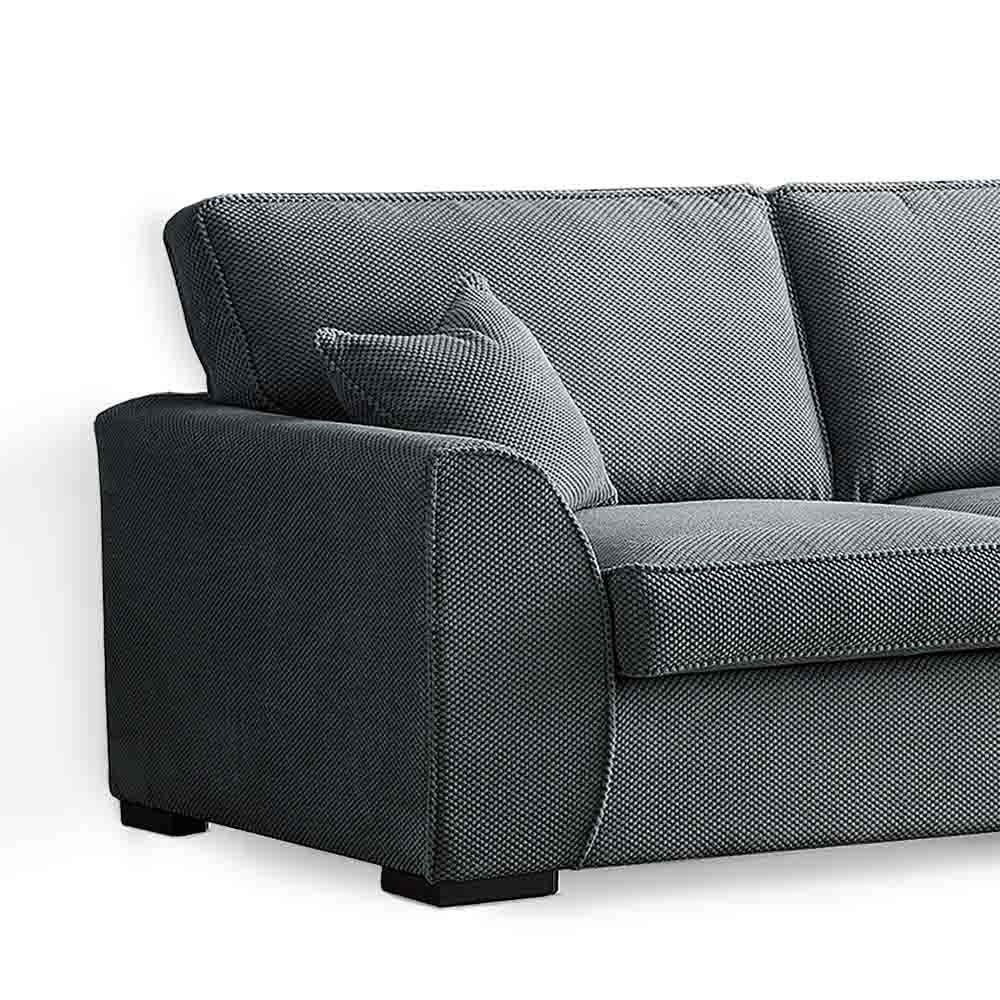 Dallas Charcoal 3 Seater Sofa - Close up