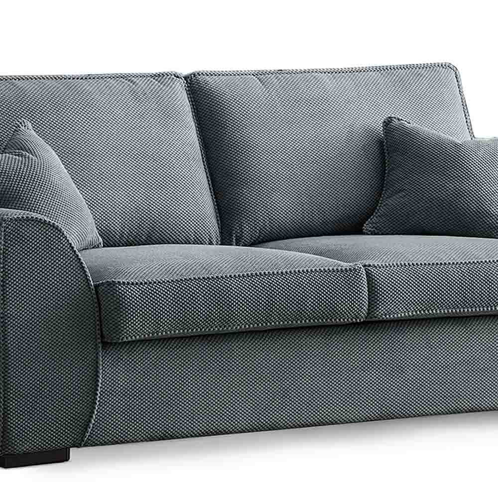 Dallas Charcoal 3 Seater Sofa - Close up of cushions