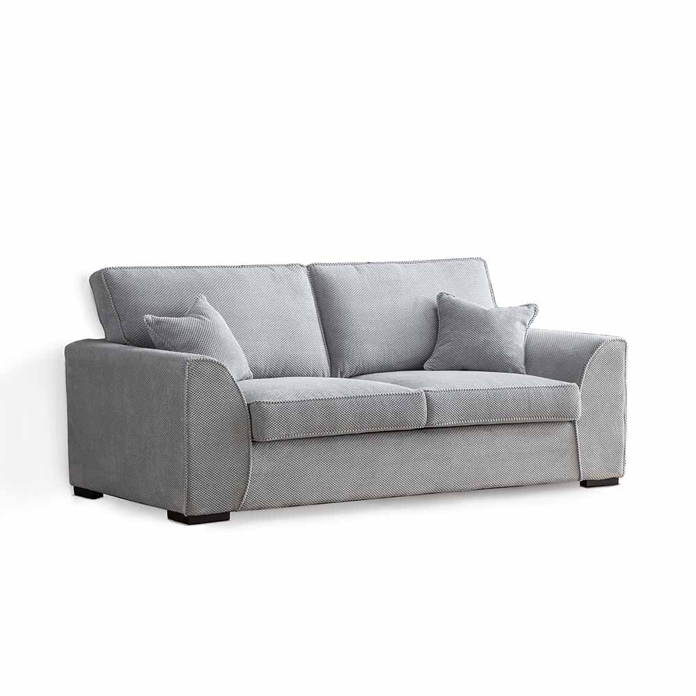 Dallas Silver 3 Seater Sofa by Roseland Furniture