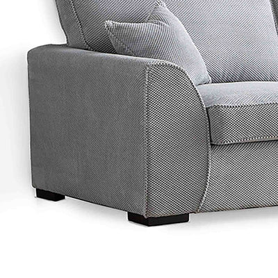 Dallas Silver 3 Seater Sofa - Close up of side of sofa