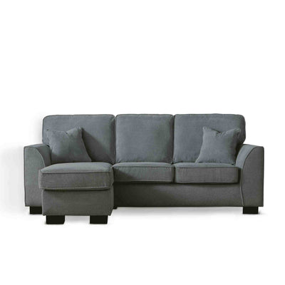 Dallas Charcoal Corner Chaise Sofa by Roseland Furniture
