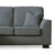 Dallas Charcoal Corner Chaise Sofa - Close up of sofa end