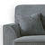Dallas Charcoal Corner Chaise Sofa - Close up of arm rest of sofa