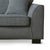Dallas Charcoal Corner Chaise Sofa - Close up of foot on sofa