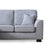 Dallas Silver Corner Chaise Sofa - Close up of sofa end of sofa