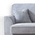 Dallas Silver Corner Chaise Sofa - Close up of arm rest
