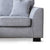 Dallas Silver Corner Chaise Sofa - Close up of foot of sofa