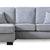Dallas Silver Corner Chaise Sofa - Close up of mid section of sofa