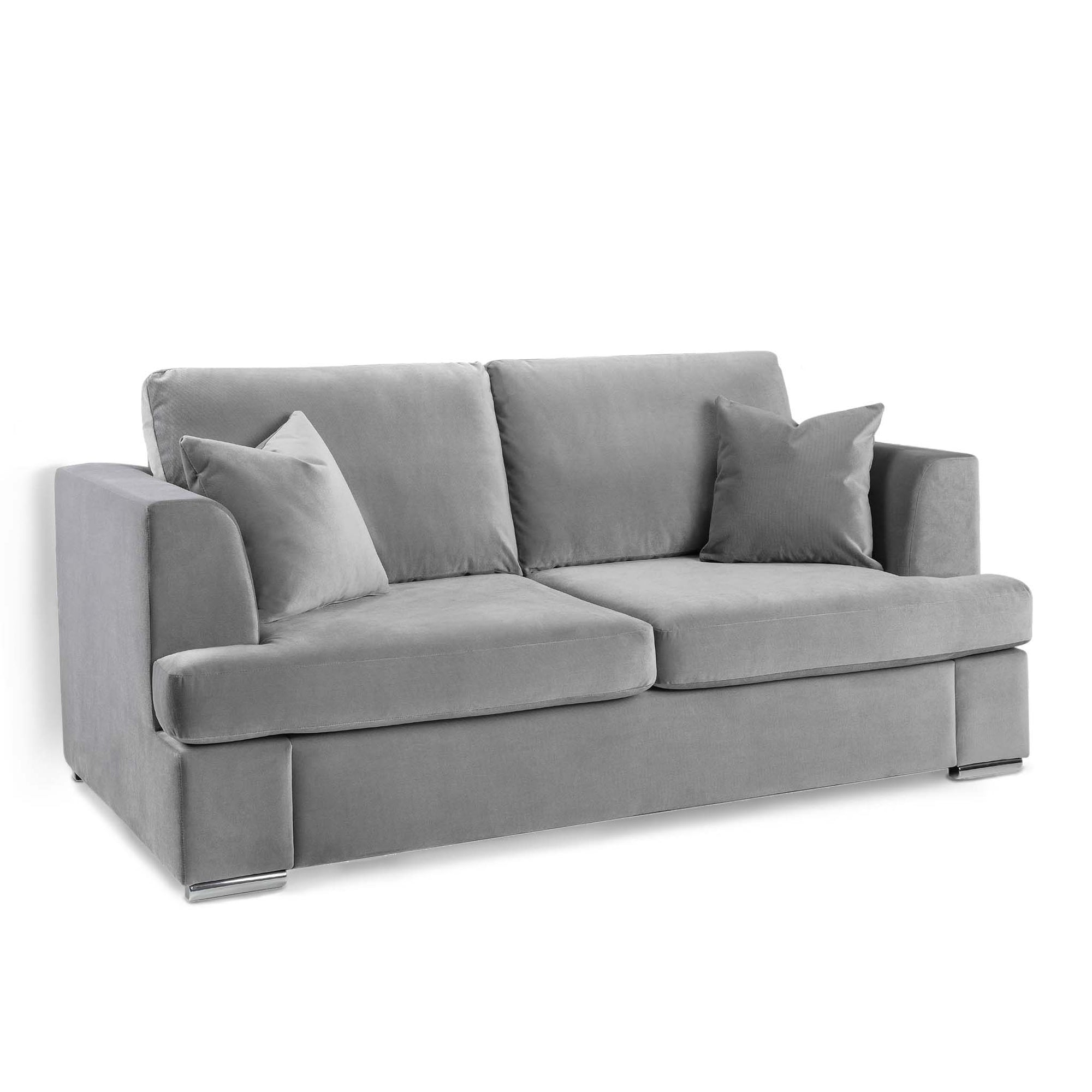 Felice Grey 3 Seater Sofa by Roseland Furniture