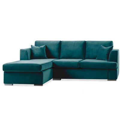 Felice Peacock Corner Chaise Sofa by Roseland Furniture