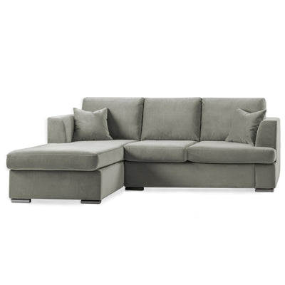 Felice Grey Corner Chaise Sofa by Roseland Furniture