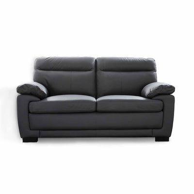 Hugo Grey 2 Seater Leather Sofa by Roseland Furniture