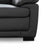 Hugo Grey 2 Seater Leather Sofa - Close up of foot on sofa