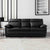 Hugo Black 3 Seater Leather Sofa - Lifestyle