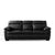 Hugo Black 3 Seater Leather Sofa by Roseland Furniture