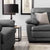 Hugo Grey 3 Seater Leather Sofa - Lifestyle Close up