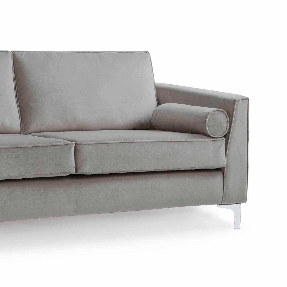 Ikon Grey 3 Seater Sofa - Close up