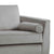 Ikon Grey 3 Seater Sofa - Close up of arm rest
