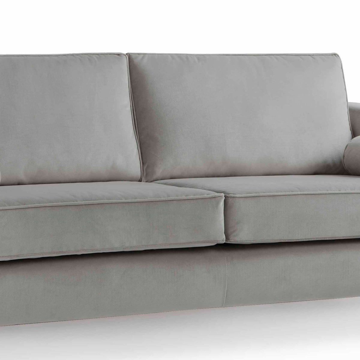 Ikon Grey 3 Seater Sofa - Close up of cushions