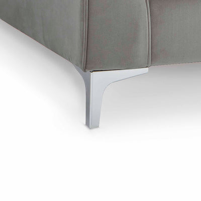Ikon Grey 3 Seater Sofa - Close up of foot of sofa