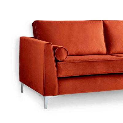Ikon Apricot 3 Seater Sofa - Close up of side of sofa