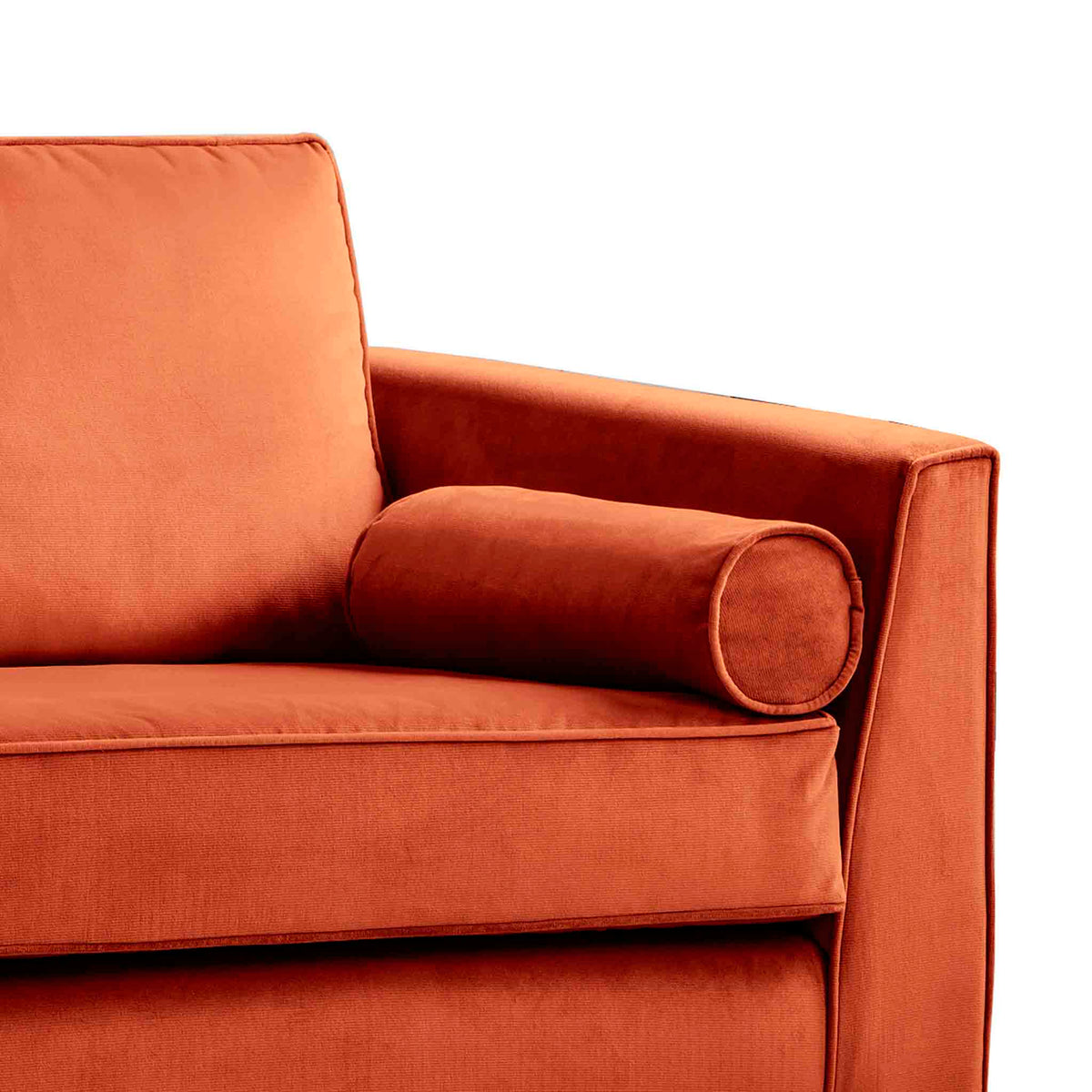 Ikon Apricot 3 Seater Sofa - Close up of arm rest