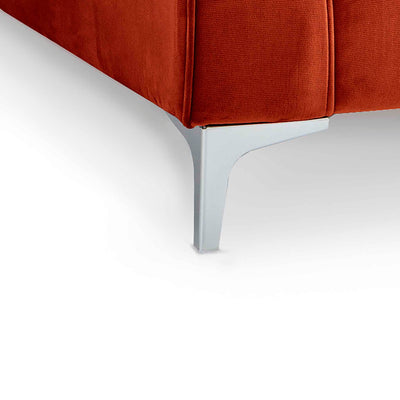 Ikon Apricot 3 Seater Sofa - Close up of foot on sofa