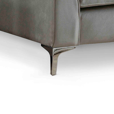 Ikon Reversible Grey Chaise Corner Sofa - Close up of foot