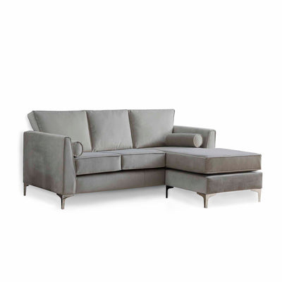 Ikon Reversible Grey Chaise Corner Sofa by Roseland Furniture