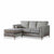 Ikon Reversible Grey Chaise Corner Sofa