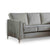 Ikon Reversible Grey Chaise Corner Sofa - Close up of side of sofa