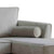 Ikon Reversible Grey Chaise Corner Sofa - Close up of arm rest