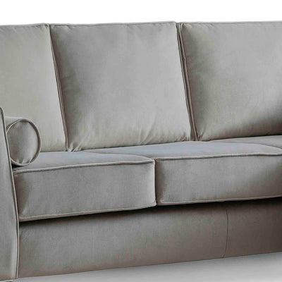 Ikon Reversible Grey Chaise Corner Sofa - Close up of cushions on sofa