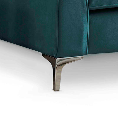 Ikon Reversible Peacock Chaise Corner Sofa - Close up of foot