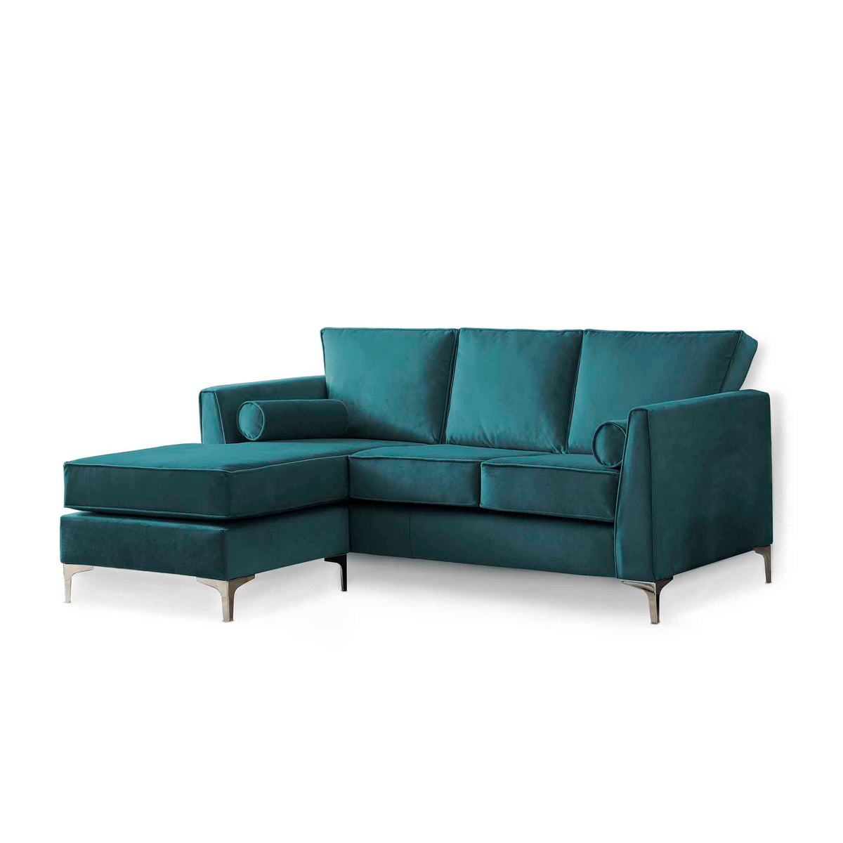 Ikon Reversible Peacock Chaise Corner Sofa