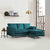 Ikon Reversible Peacock Chaise Corner Sofa - Lifestyle