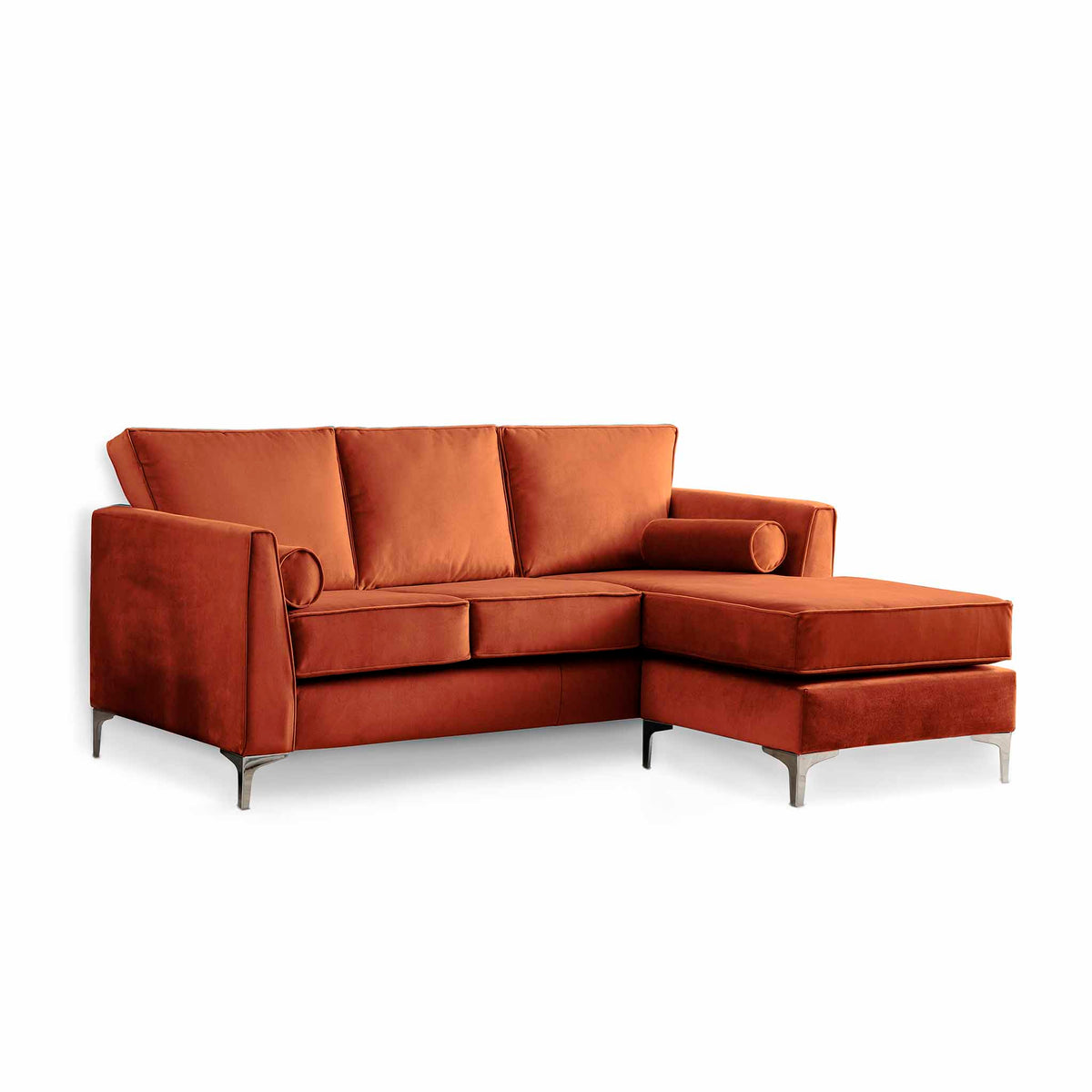 Ikon Reversible Apricot Chaise Corner Sofa by Roseland Furniture
