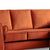 Ikon Reversible Apricot Chaise Corner Sofa - Close up of cushions on sofa