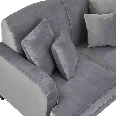 top view of the Piper Grey 2 Seater Sofa from Roseland Furniture