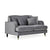 Piper Grey 2 Seater Settee from Roseland Furniture
