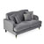 Piper Grey 2 Seater Couch from Roseland Furniture