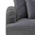 close up of English rolled arm on the Piper Grey 2 Seater Sofa from Roseland Furniture