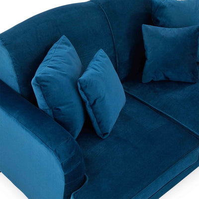 top view of the Piper Peacock Velvet Corner Chaise Sofa from Roseland Furniture