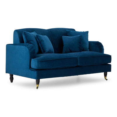 side view of the Piper Peacock 2 Seater Settee from Roseland Furniture