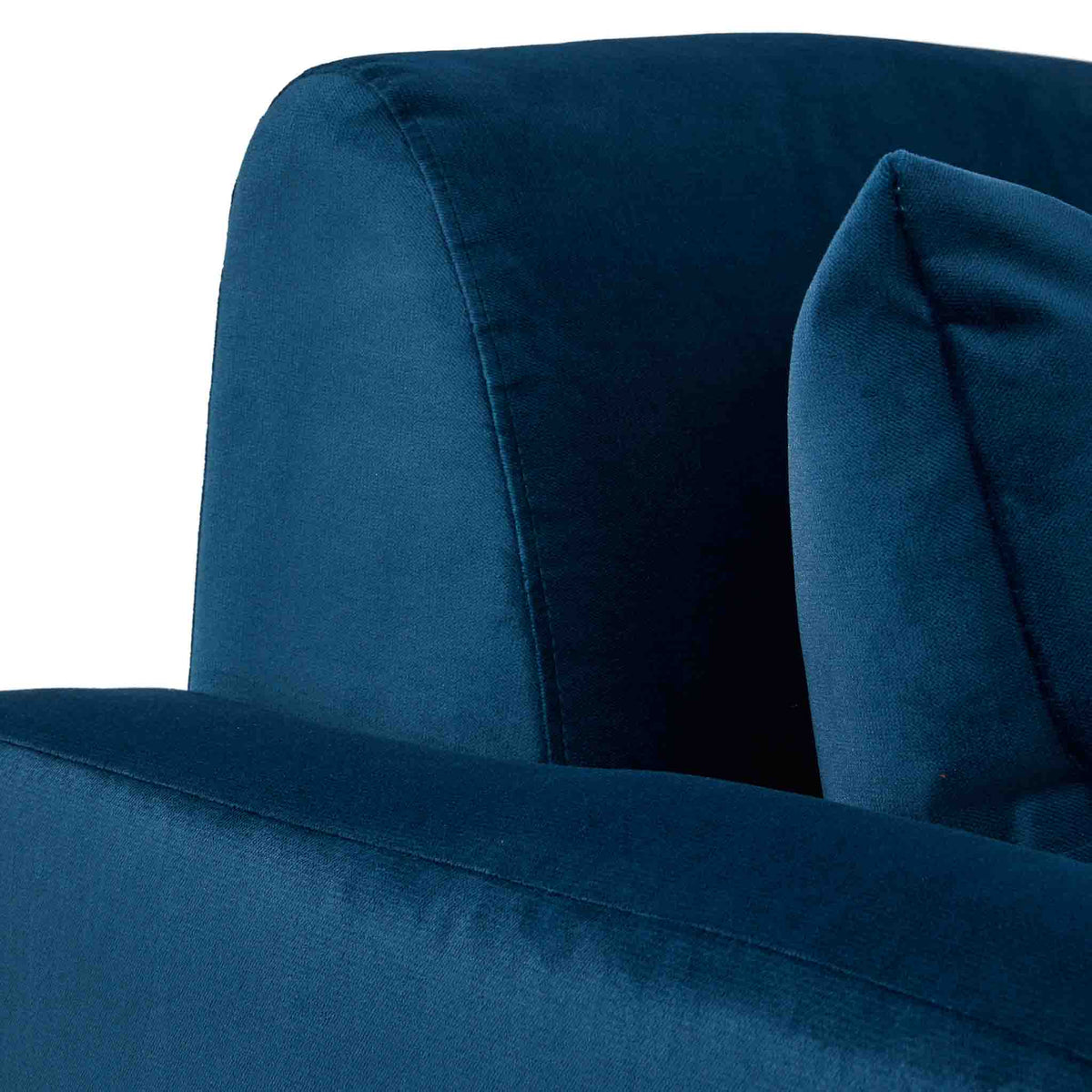 close up of the Piper Peacock 2 Seater Sofa from Roseland Furniture