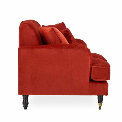 side image of the Piper Apricot 2 Seater Sofa from Roseland Furniture
